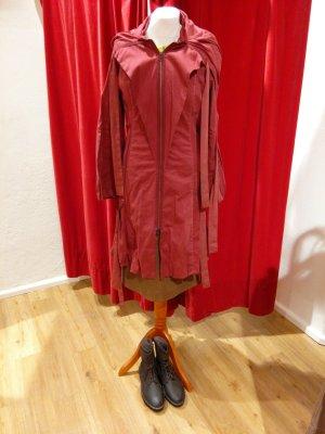 Cappotto con cappuccio rosso mattone-carminio Cotone