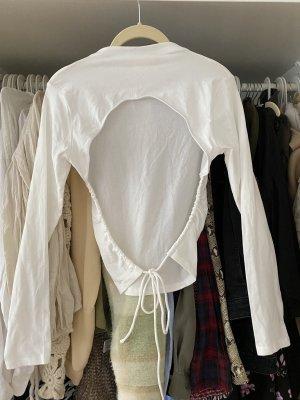 The Girl Who Blusa sin espalda blanco