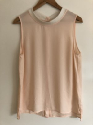 Theory Sleeveless Blouse pink-natural white