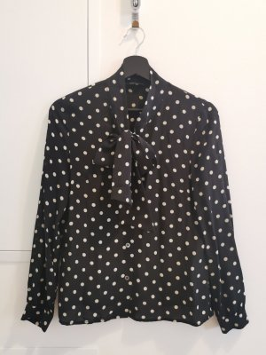 THEORY Bluse Blusen Shirt Seide Schwarz, Weiß, Punkt S