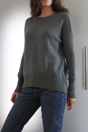 Theory Kaszmirowy sweter szaro-zielony Kaszmir