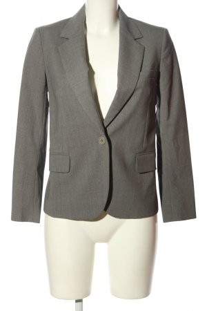 Theory Kurz-Blazer hellgrau meliert Business-Look
