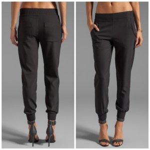 Theory Pantalone elasticizzato nero Viscosa