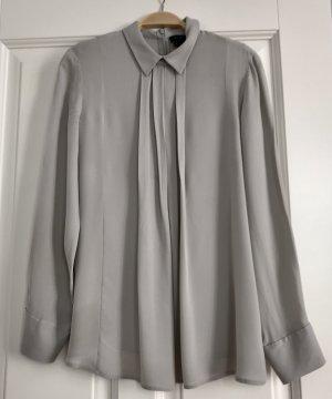 Theory Zijden blouse lichtgrijs