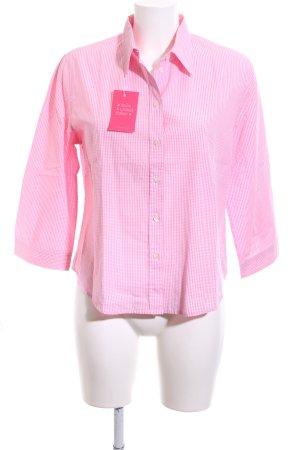 Theresa König Karobluse pink-weiß Karomuster Business-Look
