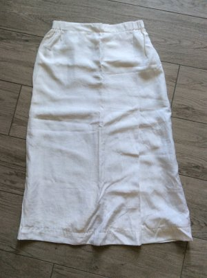 Theresa König Lniana spódnica biały