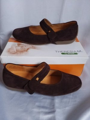 Theresia m. Strappy Ballerinas dark brown
