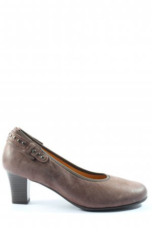Theresia m. Hochfront-Pumps braun Business-Look