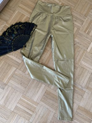 Thermo WetLook Leggings/Jeggings - Größe S/M 34 36 38 - Gold Schimmer - Sexy Hot