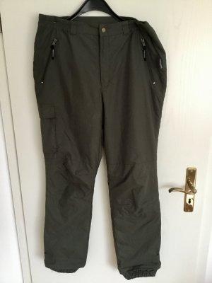Pantalon thermique gris vert polyester