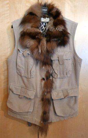 Thes & Thes Fur vest oatmeal pelt