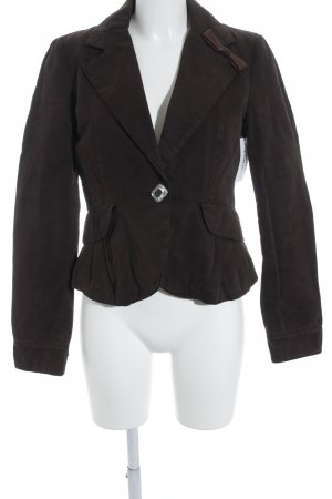 Thes & Thes Long-Blazer braun Casual-Look