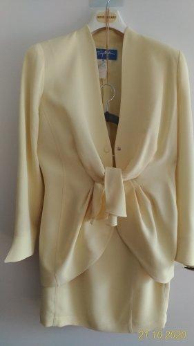 Thierry Mugler Couture Kostüm hellgelb F42/D38