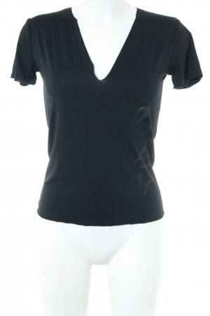 Thierry Mugler T-Shirt schwarz Motivdruck Casual-Look