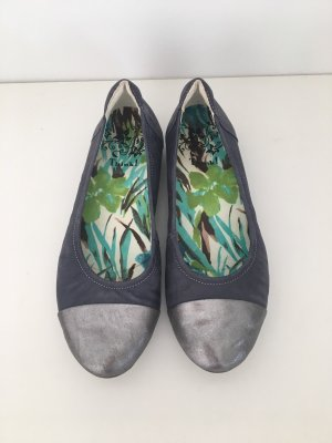 Think! Ballerinas with Toecap silver-colored-azure
