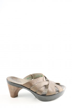 Think! Clog Sandalen creme-hellgrau Casual-Look