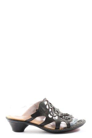 Think! Sandales à talon haut noir style décontracté