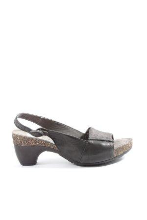 Think! High Heel Sandaletten schwarz Casual-Look