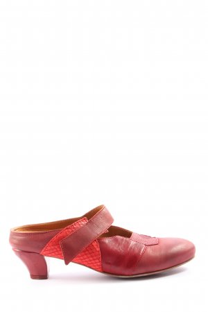 Think! Heel Pantolettes red casual look