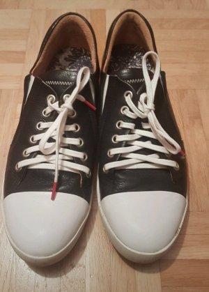 Think! Ledersneaker schwarz weiss