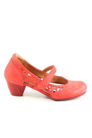 Think! Escarpins Mary Jane rouge style décontracté