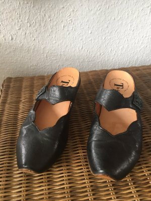 Think! Sandalias cómodas negro Cuero