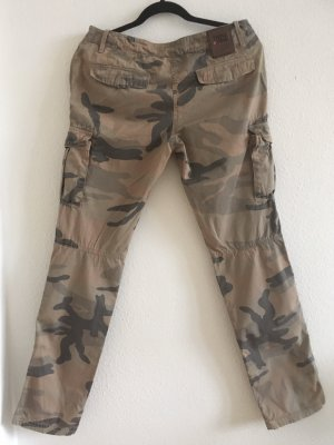 Think Pink Cargo Pants multicolored cotton
