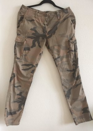 Think Pink Pantalone cargo multicolore Cotone