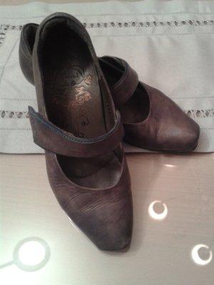Think! Chaussures Mary Jane gris foncé-bleu acier