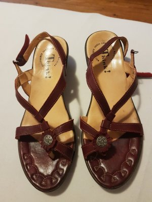 Think! High-Heeled Toe-Post Sandals bordeaux