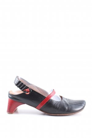 Think! Slingback pumps zwart-rood casual uitstraling