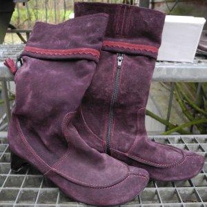 Think - Stiefel, violett extravaganter Stil, Gr 39