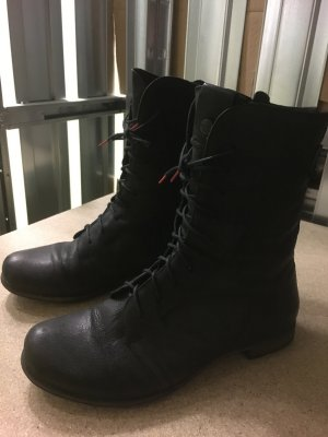 THINK! Think Denk Boots Bikerboots mit Zipp Stiefel Stieflette schwarz, Gr. 40, wie NEU