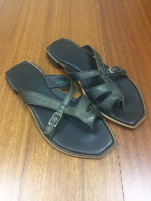Think! Toe-Post sandals black-green grey leather