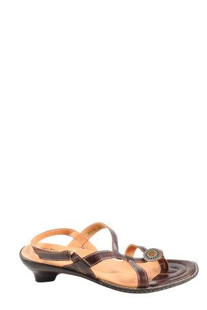 Think! Sandalo toe-post nero stile casual
