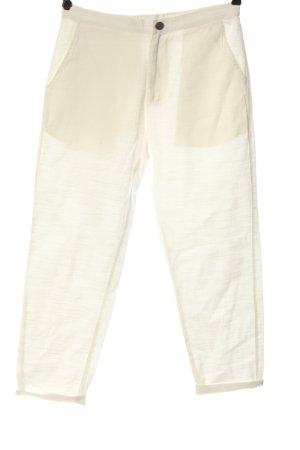 Thinking Mu Luźne spodnie kremowy W stylu casual