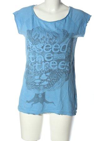 ThokkThokk T-Shirt blau-hellgrau Motivdruck Casual-Look