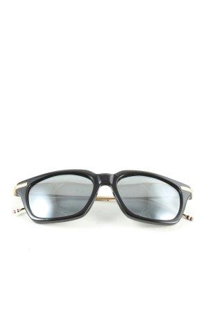 THOM BROWNE eckige Sonnenbrille schwarz Casual-Look