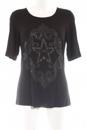 Thom by Thomas Rath Print-Shirt schwarz Casual-Look