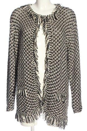 Thom by Thomas Rath Warkoczowy sweter czarny-biały Na całej powierzchni