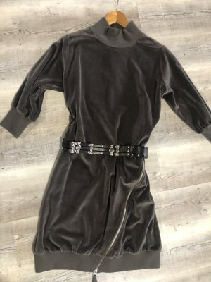 Thom Krom Vestido de tela de sudadera gris oscuro Algodón