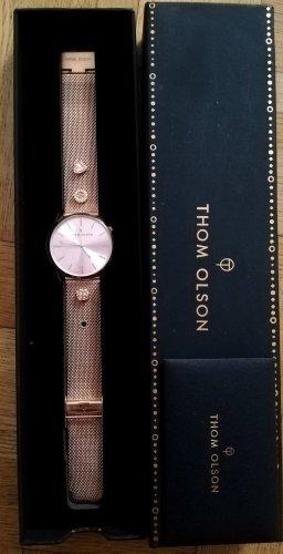 Horloge met metalen riempje roségoud-rosé