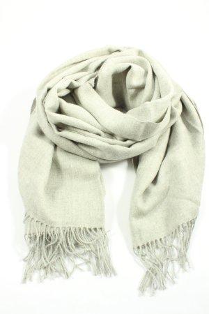 Thomas Albrecht Écharpe en laine gris clair moucheté style décontracté