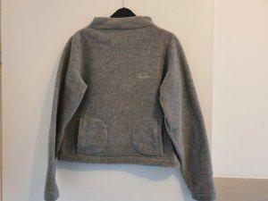 Thomas Burberry Pullover in pile grigio chiaro