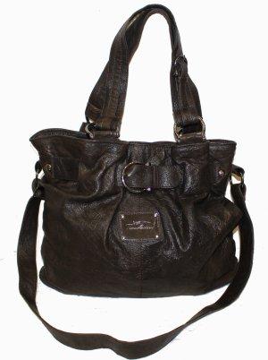 THOMAS BURBERRY XL Tasche Leder dunkelbraun