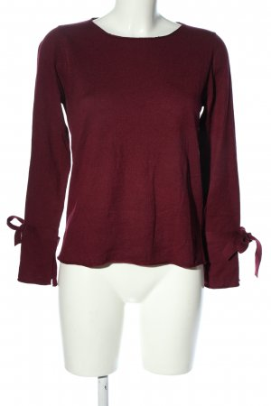 Thomas Rabe Feinstrickpullover rot Casual-Look