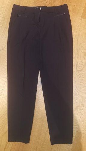 Thomas Rath Pantalone a pieghe blu scuro Poliestere