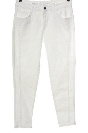 Thomas Rath Jeans a vita alta bianco stile casual