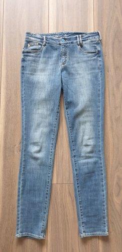 Thomas Rath Jeans a gamba dritta blu neon Cotone