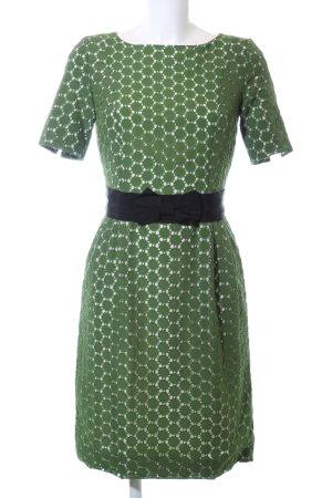 Thomas Rath Kurzarmkleid grün-schwarz Elegant